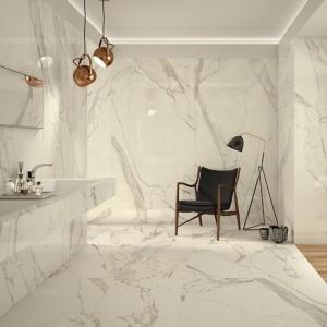 pavimenti e rivestimenti in marmo bianco